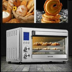 Digital Convection Toaster Oven 6 Slice LCD Display  Stainle