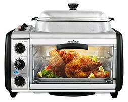 NutriChef Dual Countertop Toaster Oven - Perfect for Multi B