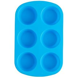 "Wilton Easy Flex"" 6-Cavity Mini Silicone Muffin Pan 2105-480"