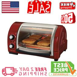 Hamilton Beach Easy Reach Electric Oven - Candy apple Red