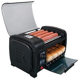 Electric Tabletop Hot Dog Roller and Bun Toaster