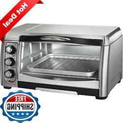Electric Toaster Oven Large Capacity Fit 6 Bread Slices Or 1