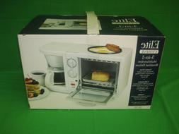 Elite Cuisine Deluxe 3 in 1 Toaster Oven and Coffee Pot Grid