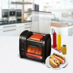 Elite Cuisine EHD-051B Hot Dog Roller and Toaster Oven, 5 Ro