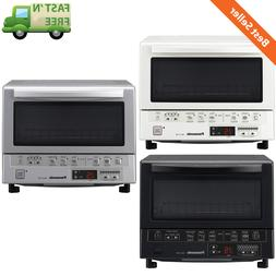 Compact Toaster Oven w/ Double Infrared Heating & Baking Tra