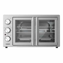 Galanz French Door Air Fryer Toaster Oven, 42L with 8 Pre-se