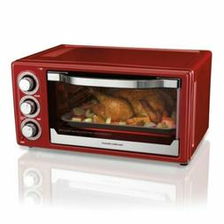 Hamilton Beach 6 Slice Toaster Convection/Broiler Oven | Red