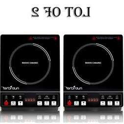 NutriChef Countertop Burner, Infrared Cooktop, Ceramic Cookw