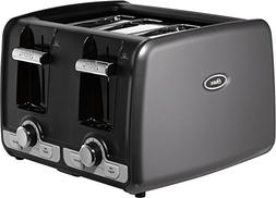Oster Jelly Bean 4-Slice Toaster with Extra Wide Slots, Gray
