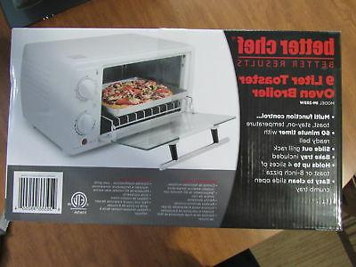 0.32 Cubic Foot Toaster Oven Broiler Color: White