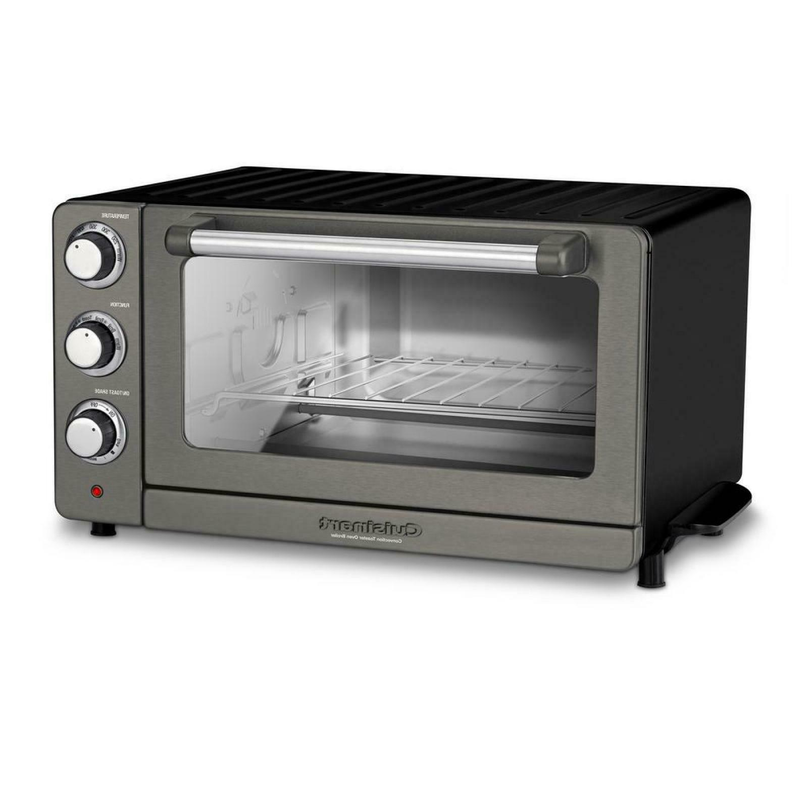 Cuisinart W Black Steel Convection Toaster with