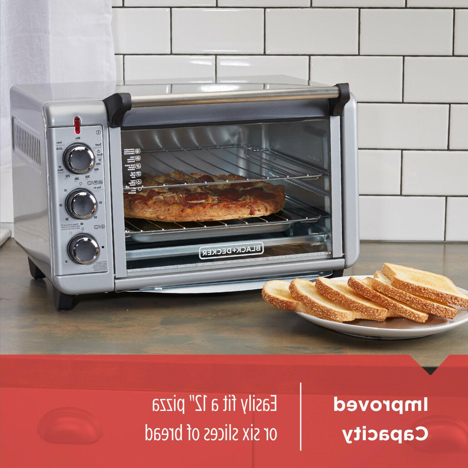 1500W Toaster 6-Slice Pizza,