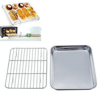 1pc toaster oven tray and cooling rack
