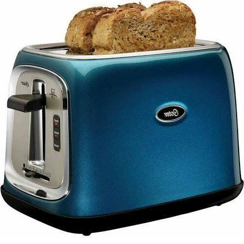 2 slice toaster oven metallic turquoise color
