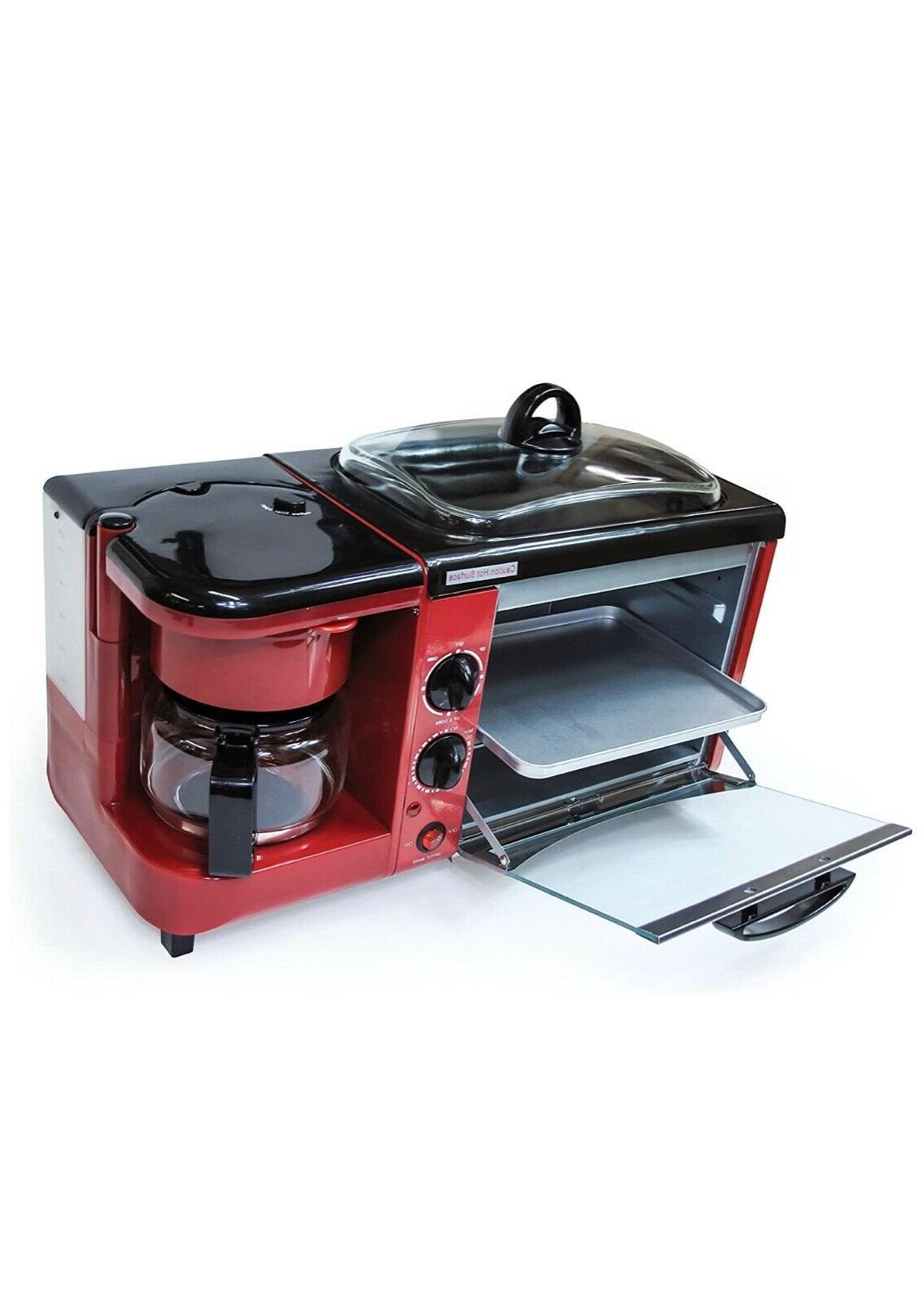 3-in-1 toaster oven, coffee