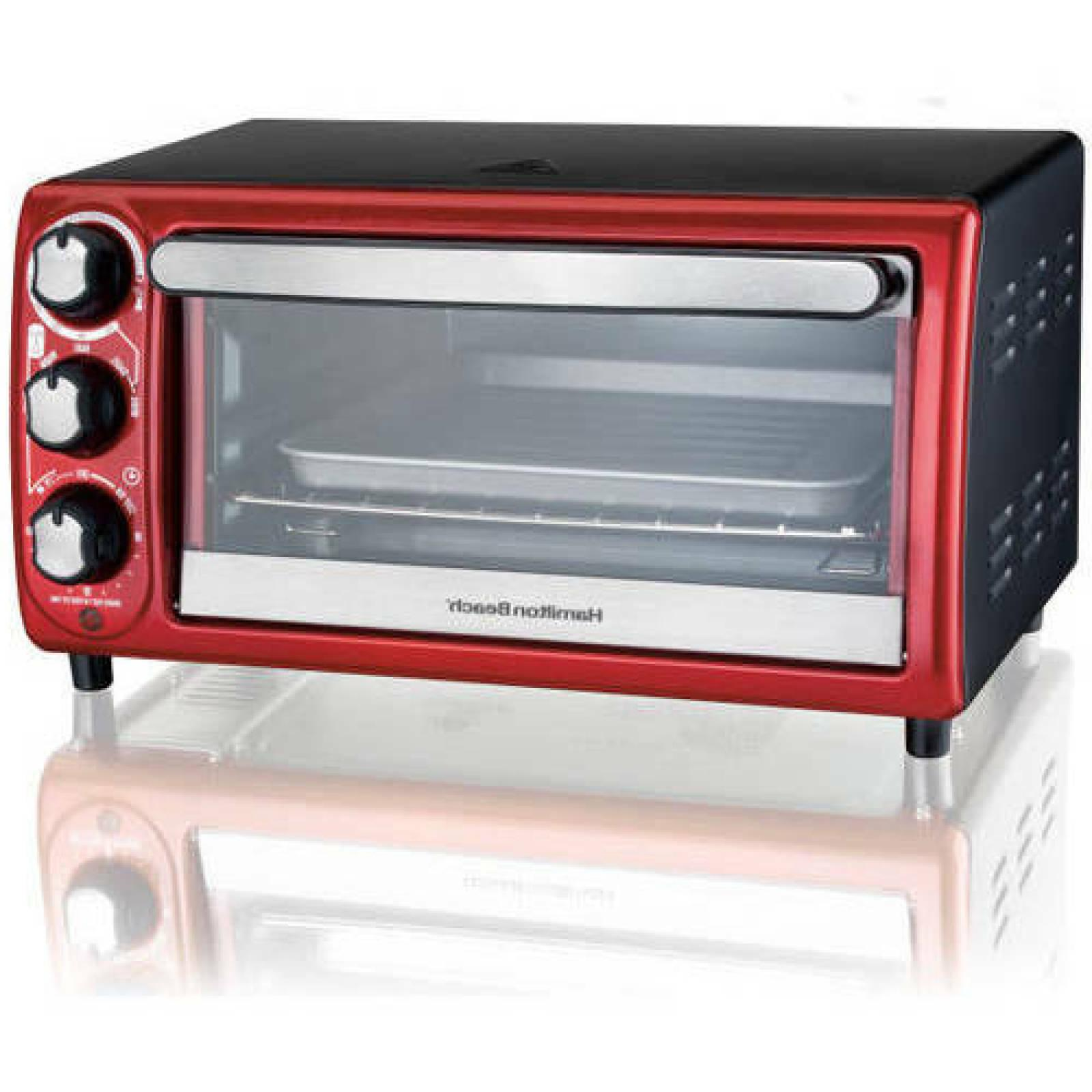 4 Slice Toaster Oven Countertop Kitchen, Hamilton Beach