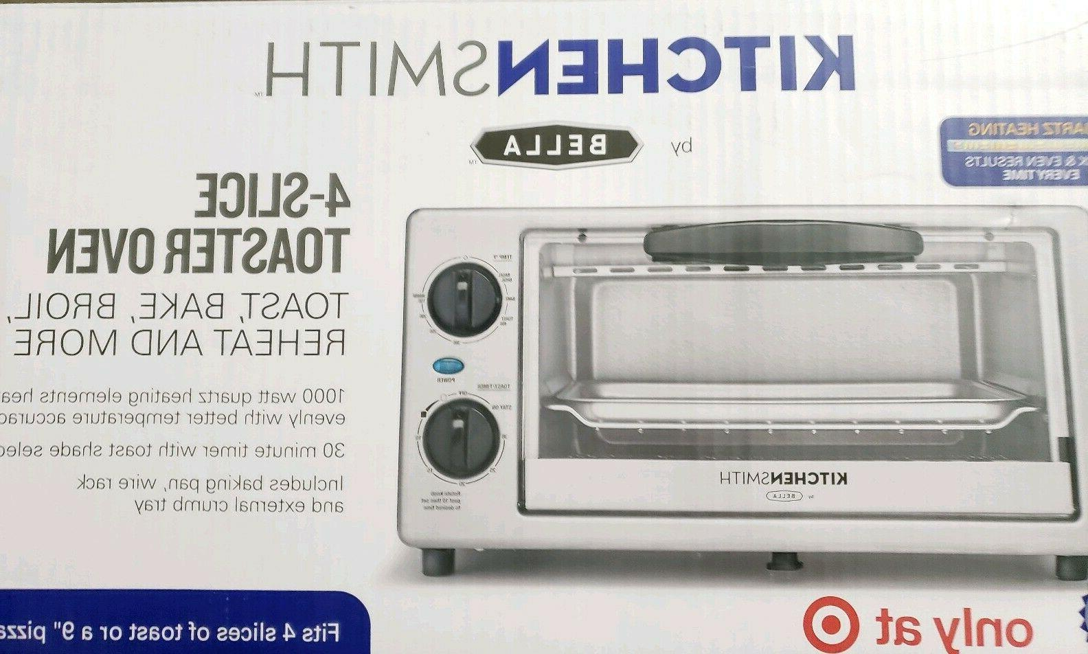 Bella 4 Slice Toaster Oven Small Kitchen Appliance