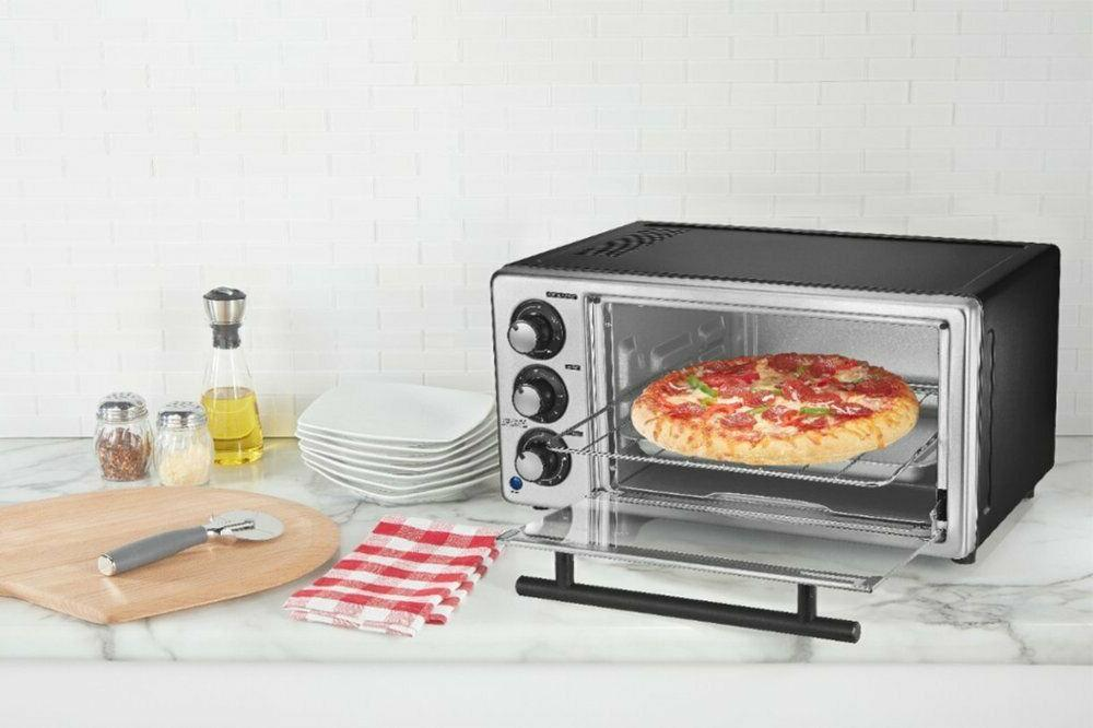 toaster oven 4 slice temperature timer controls
