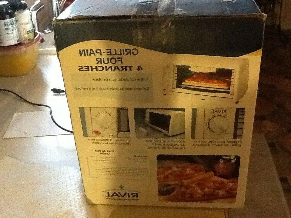 Rival Toaster - White Model # TO-450 NEW