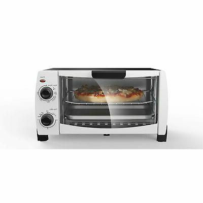 Mainstays 4-Slice White Toaster Oven Bake Broil Toast w/