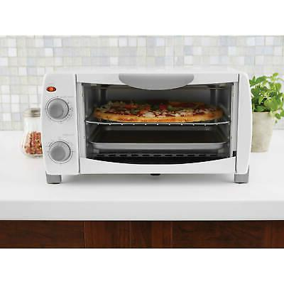 "Mainstays 4-Slice Oven 9"" Pizza Bake 1000W w/"