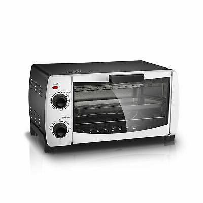 4 slice white toaster oven fits 9