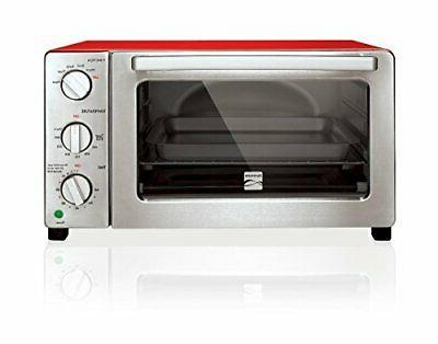 6 slice black convection toaster