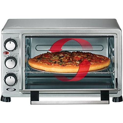 Toaster Oven Steel, Capacity for 12 Pizza Bakeware Pan Broiler Rack RHTO-17001
