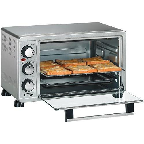 Rosewill 6 Toaster Countertop, Steel, Large Capacity 12 with Bakeware Pan RHTO-17001