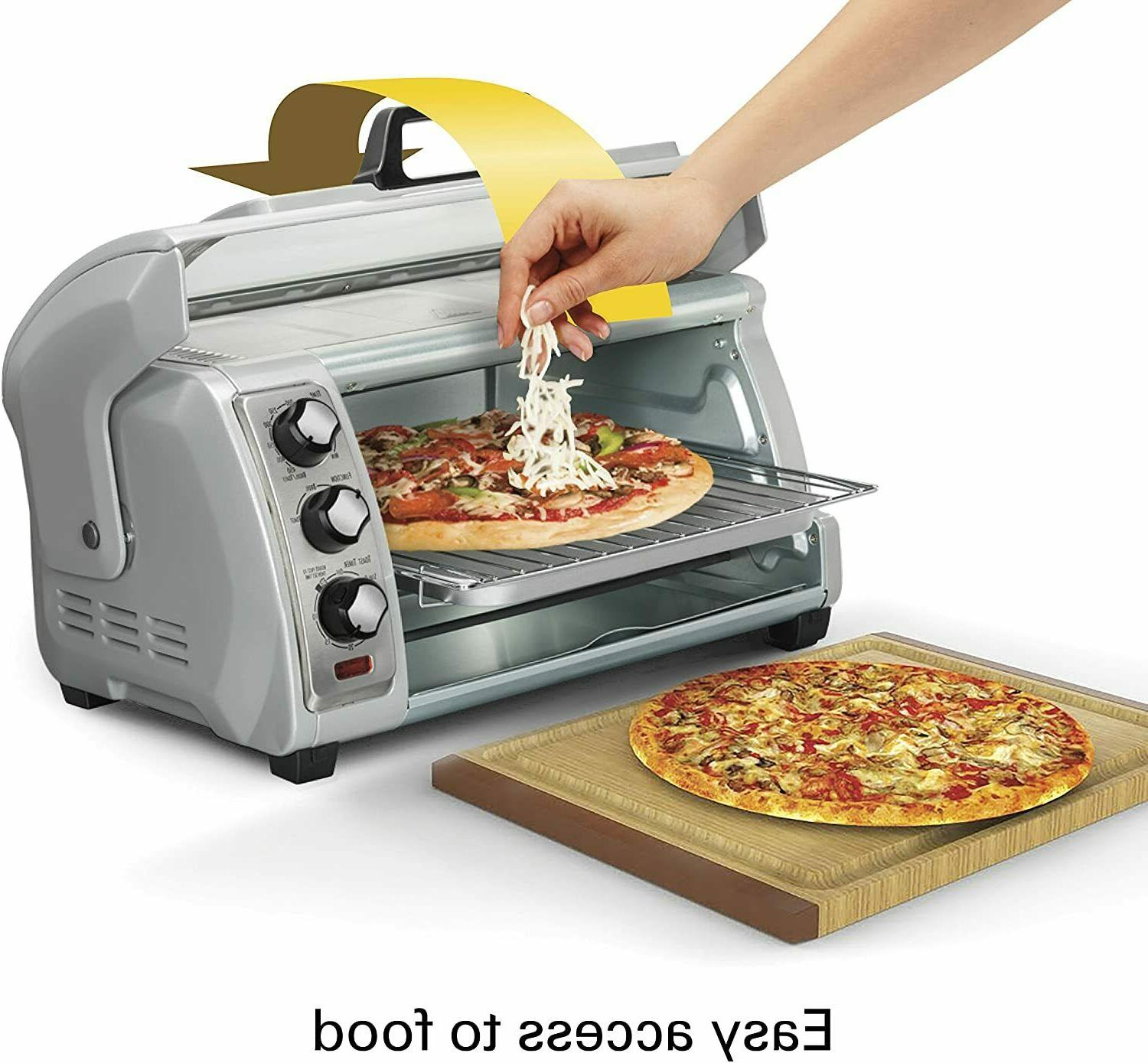 toaster oven countertop kitchen pizza baking cook