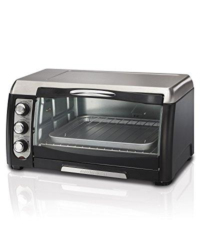 Hamilton 6 Slice Capacity Toaster Oven - Toast, Bake, Convection - Black