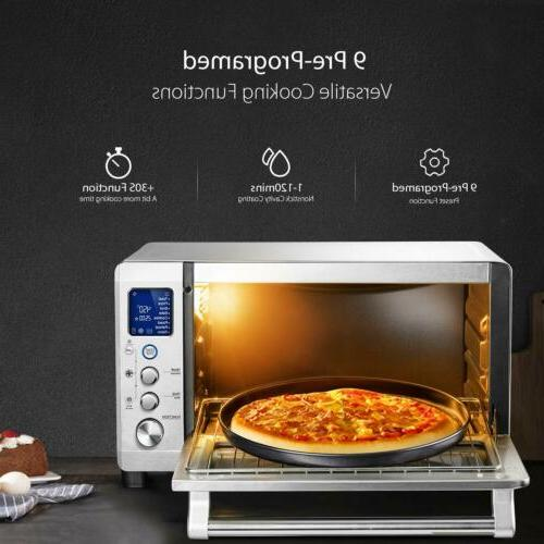 6 Slice Toaster Convection Oven LCD Display