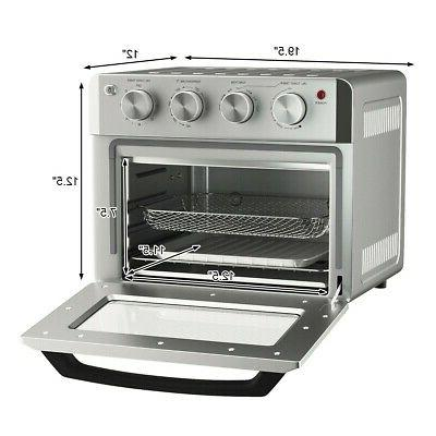 7-in-1 Air Fryer Toaster Oven 19 Convection w/ Accessories