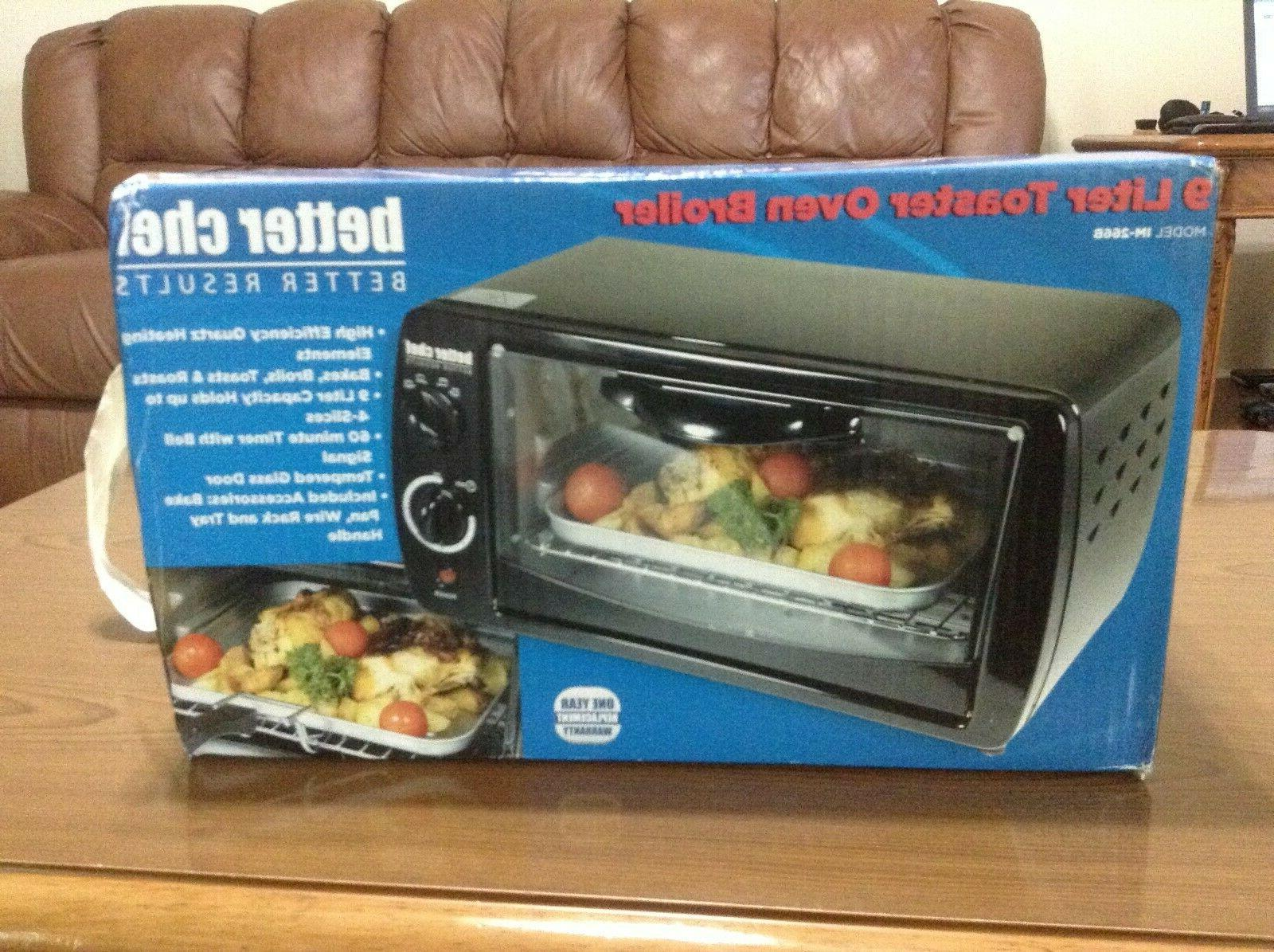 9 liter toaster oven and broiler new