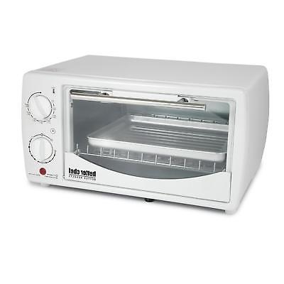 9 liter toaster oven broiler white new