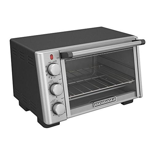 BLACK+DECKER 6-Slice Convection Toaster Oven, Stainless TO2050S