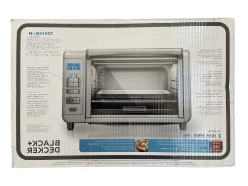 Black Decker 6 Slice Digital Convection Countertop Toaster