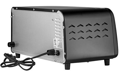 Courant 4 Slice Countertop Oven Bake Broil and Black