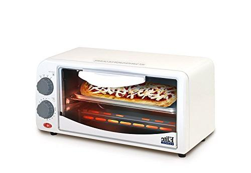 ETO-113 Maxi-Matic Toaster with 15 Minute Timer, White