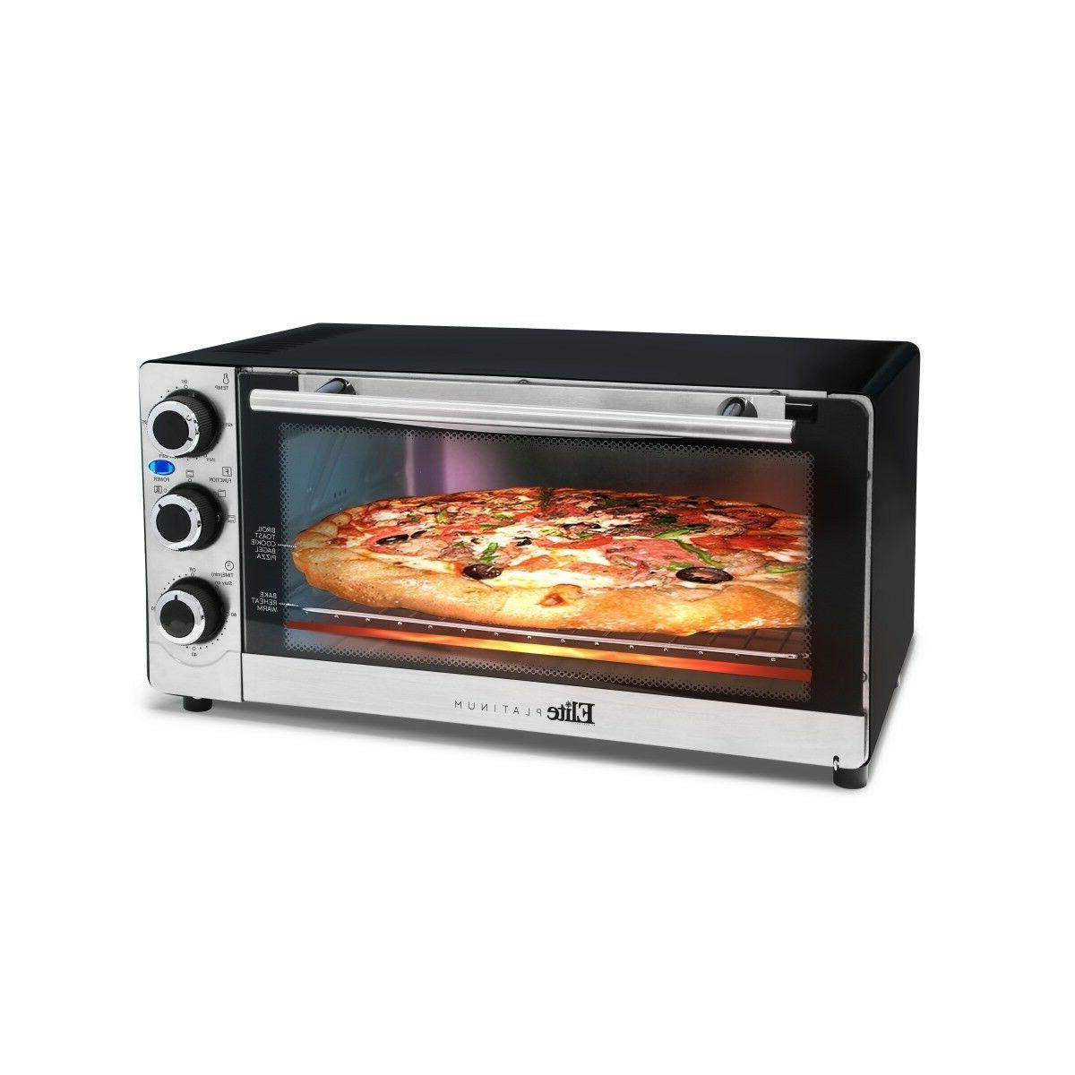 Elite Convection Toaster Pizza Oven Stainless Steel
