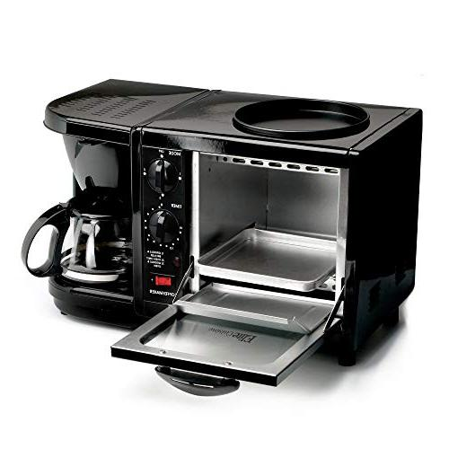 Elite Cuisine 3-in-1 Breakfast Black