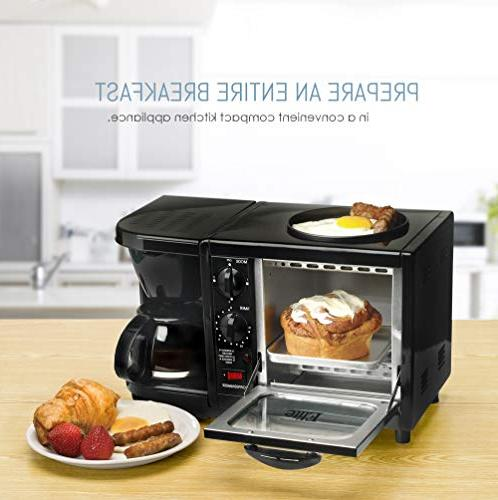 Elite Cuisine Maxi-Matic 3-in-1 Multifunction Black