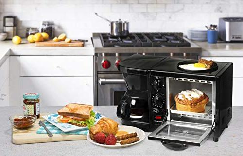 Elite Cuisine EBK-200B 3-in-1 Breakfast Black
