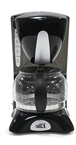 Elite Cuisine EHC-2022 Maxi-Matic 4 Cup Coffee Maker with Pa