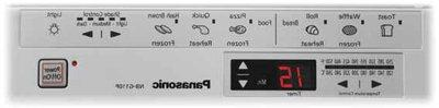 Panasonic Toaster 6 Preset Buttons and Time, Includes Digital Timer Beep and Square Inner Tray with Crumb Tray