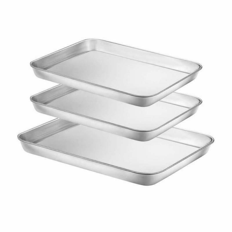 baking sheets set of 3 stainless steel