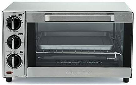 Countertop Toaster Oven Large 4 Slice 30 Min Timer Pizza Toa