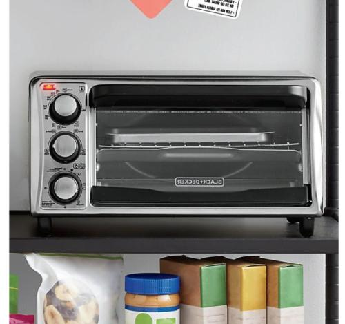 Black & 4-Slice Toaster Oven in Grey Kitchen TO1356SG