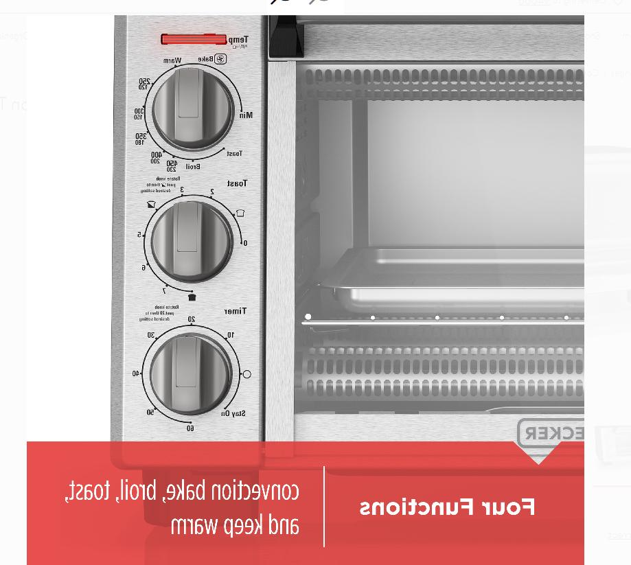 Black Convection Toaster Steel TO2055S