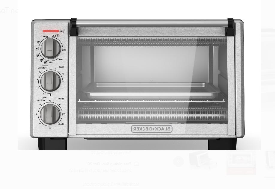 Black Convection Toaster Steel
